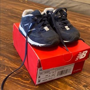 Navy Toddler New Balance Shoes